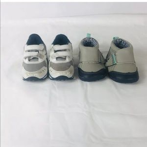 Lot of 2 pairs of boys size 4 sneakers